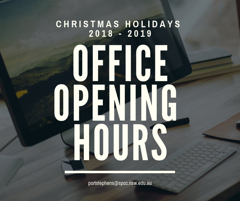 Office Opening Hours 2018 2019 Christmas Holidays